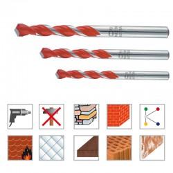 Komplet večnamenskih kratkih svedrov 3/1- 5,00/6,00/8,00 mm cilindrično vpetje