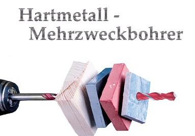Hartmetall-Mehrzweckbohrer
