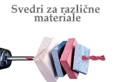 Svedri za različne materiale